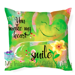 you make my heart smile throw pillow