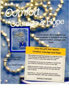 Comfort, Courage Hope pendant